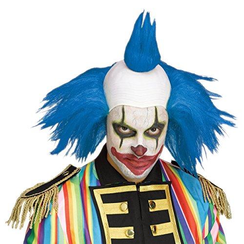 Fun World Men's Twisted Clown Wig Adult Costume Accessory, Blue, Standard