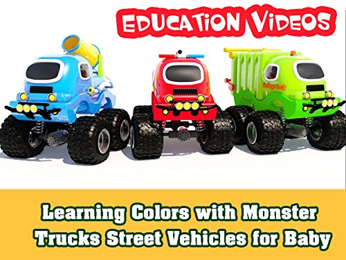 Early Lessons - Learning Colors with Monster Trucks Street Vehicles for Baby