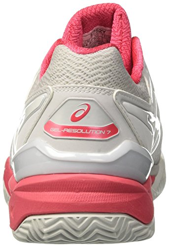 Asics Femme Glacier Hellblau Grey White Chaussures Resolution Red Tennis Gel Rouge 7 Gris de Clay BqUgBw