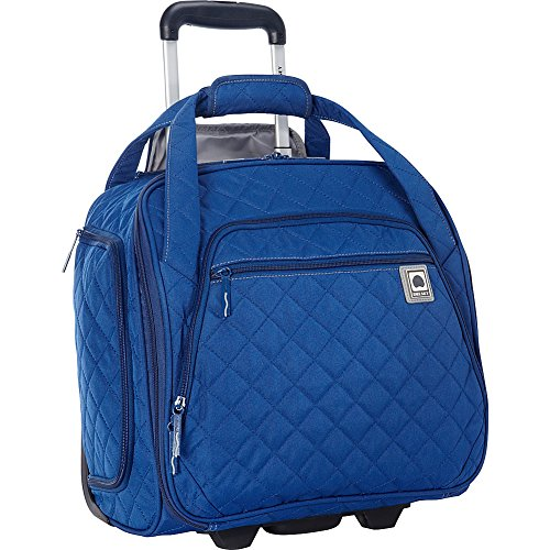 - Delsey Quilted Rolling UnderSeat Tote- EXCLUSIVE (Navy)