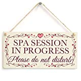 Meijiafei Spa Session In Progress Please do not disturb - Pretty Love Heart Frame Design Sign /Plaque 10''x5''