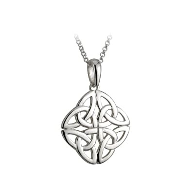 box stainless jewelry dp necklace sided celtic knot both elfasio pendant steel s chain men magic