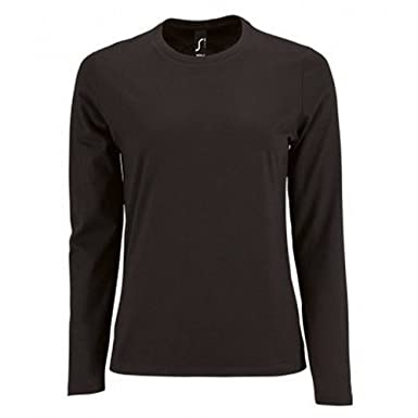 785d86eb0a419 SOL'S Womens/Ladies Imperial Long Sleeve T-Shirt: Amazon.co.uk: Clothing