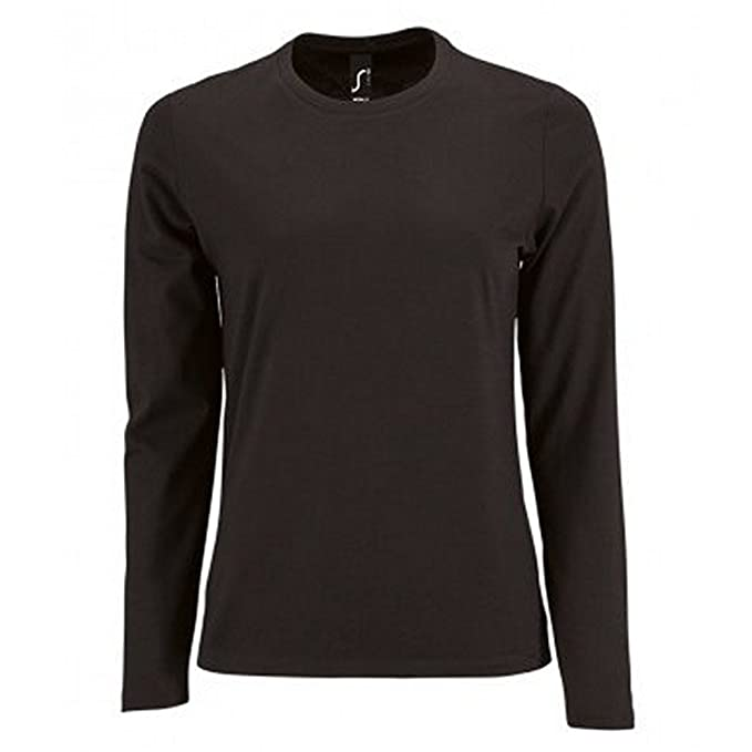 6d7b40f6c51 SOL'S Womens/Ladies Imperial Long Sleeve T-Shirt: Amazon.co.uk: Clothing