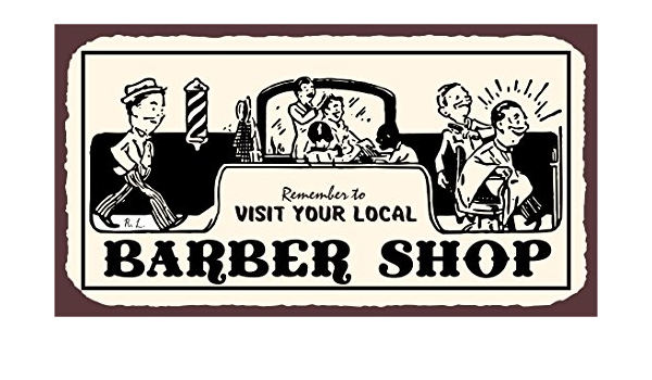 Fluse Personalized Barber Shop Barbershop s Modern Style Barber Shop Targhe in Metallo Vintage Art Metal retr/ò Chic Targhe in Metallo 8x12 Pollici