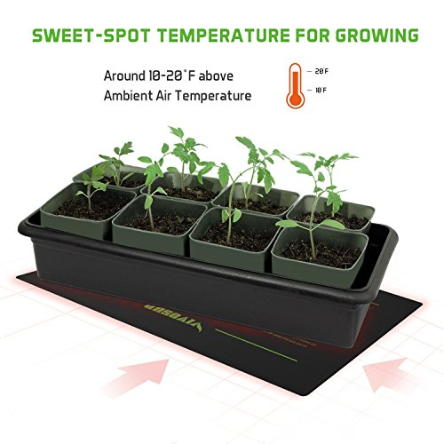"VIVOSUN 10""x20.75"" Seedling Heat Mat and Digital Thermostat Combo Set MET Standard"