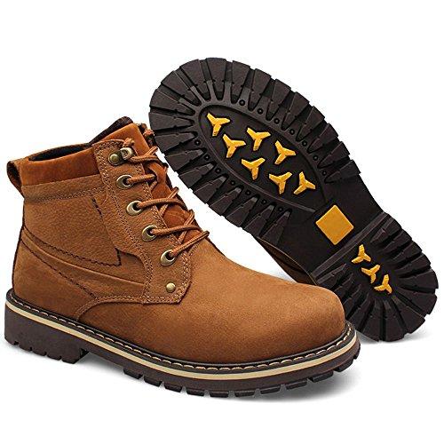 Taoffen Mens Chukka Boots Snörning Vinterskor Brun