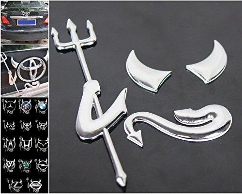 1 Set Superb Popular 3D Devil Car Sticker Fork Demon Decal SUV Truck Rear Graphics Style Color (Electronic Demon Costume)