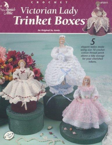 Crochet Victorian Lady Trinket Boxes, No. 872511