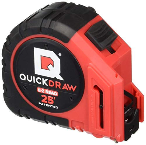 NEW-QUICKDRAW-PRO-Self-Marking-25-Foot-Tape-Measure-1st-Measuring-Tape-with-a-Built-in-Pencil-Contractor-Grade-Steel-Tape-Power-Locking-Tape-Ruler