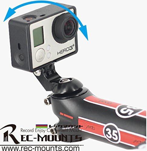rec-b09-gp REC-mounts Top Cap Mounts para GoPro o Garmin Virb Elite