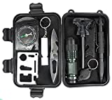 ChaseRabbitRoad - Survival Gear Kit | 8-in-1 Emergency Tools & Gear: Knife, Compass, Flashlight, Fire Starter, Whistle, and more | Great for Car, Truck, Boat, RV, Home, Hiking, or just Being Prepared