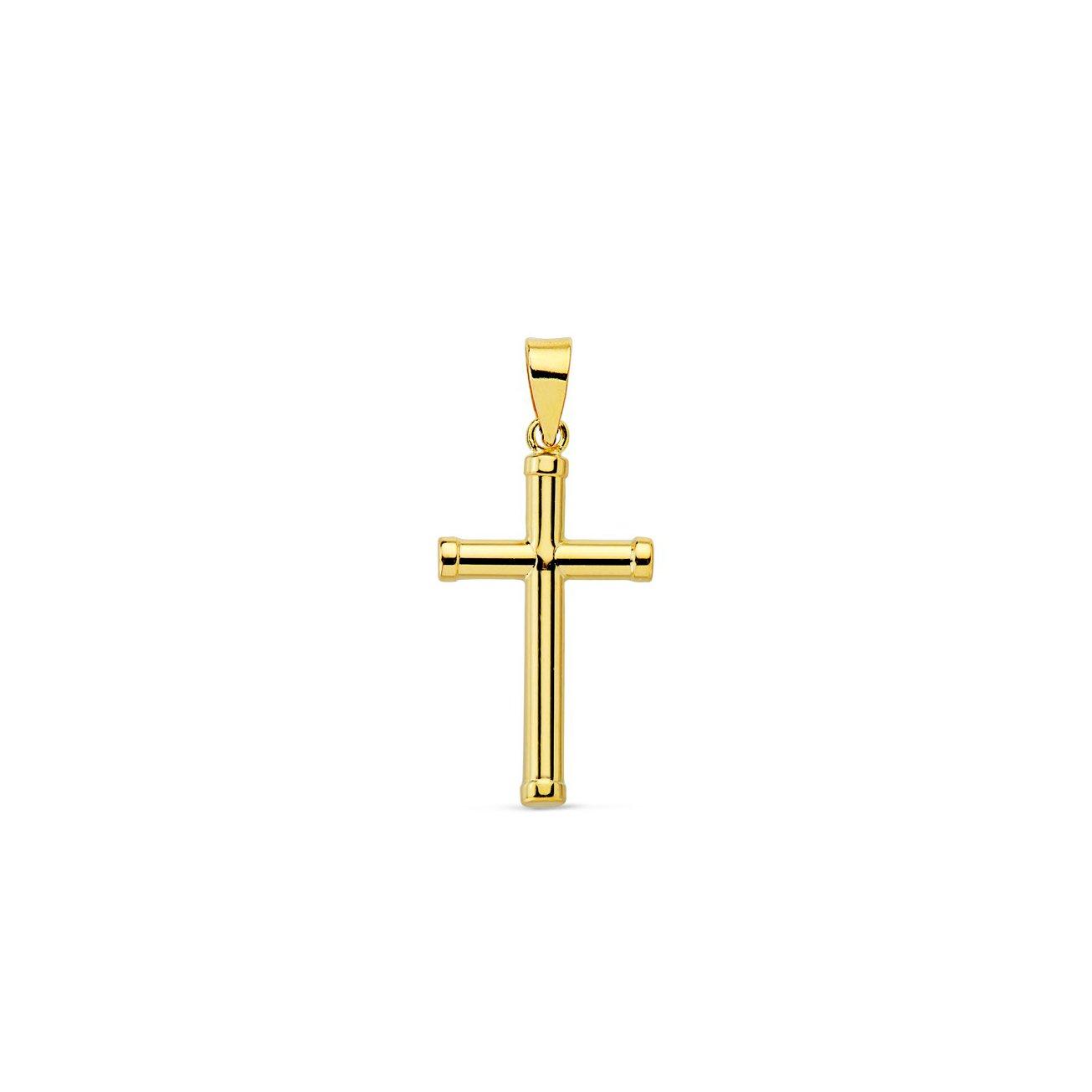 Cruz Oro Lisa pequeñ a 16x10 mm Mondepetit 8461C