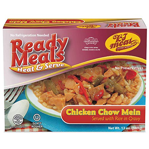 (Kosher Meals Ready to Eat, Chicken Chow Mein Served with Rice in Gravy (Microwavable, Shelf Stable, No Refrigeration) - Gluten Free, Dairy Free, Egg Free - Glatt Kosher (12 ounce - Pack of 1))