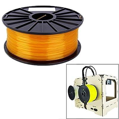 Wewoo Filaments Transparents d'imprimante 3D PLA 1,75 millimètres Orange