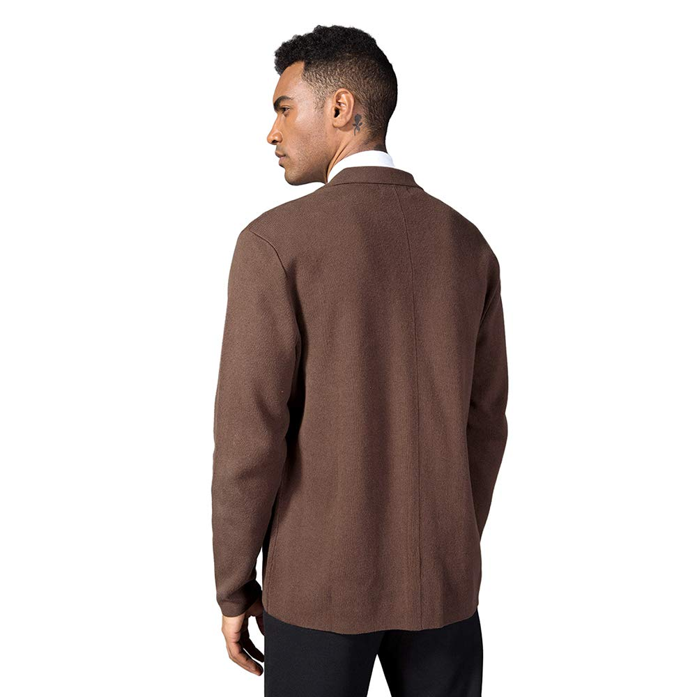 Kallspin Mens Cotton Blend Cardigan Sweater Relaxed Fit Casual Turndown Collar Knitwear with Buttons /& Pockets