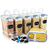 Wildone Plastic Cereal Containers Set | 6 Large (16.9 Cups, 135.3oz) Airtight Food
