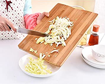 44cab3004 Image Unavailable. Image not available for. Colour  Orpio Bamboo Wooden  Kitchen Chopping Board With Handle For Vegetables Cutting And Fruit ...