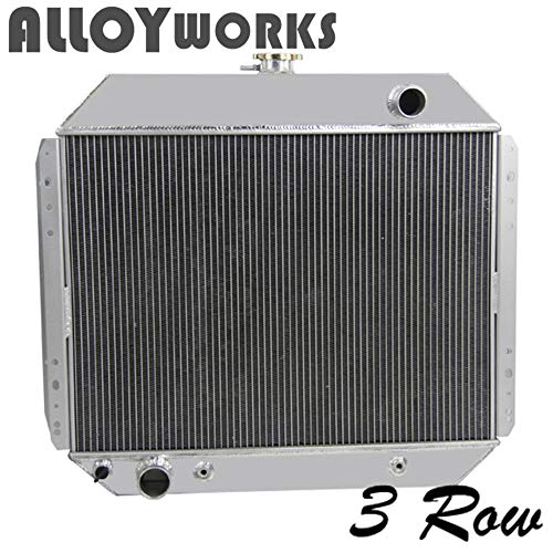 ALLOYWORKS 3 Row Aluminum Racing Radiator for Ford Bronco F100 F150 F250 F350 1966-1979