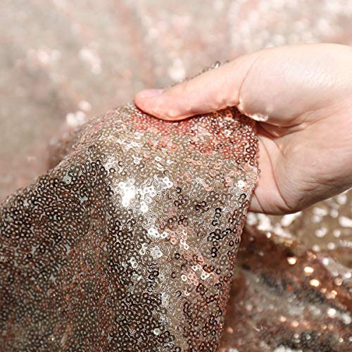 (Party Delight Sequin Fabric 3 Yards 9 Feet, Rose Gold by The Yard, for Tablecloth, Linen, Home Dector DIY)