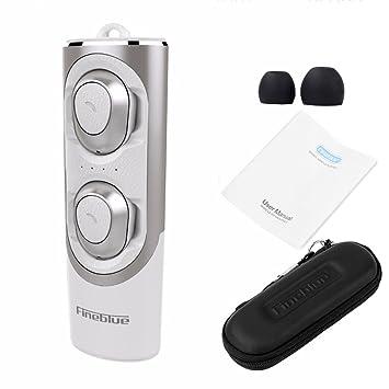 Prom-near Auriculares Bluetooth Inalambricos Negocio Auricular Bluetooth 5.0 EDR doble cara respuesta Baja potencia Mini Estéreo Auriculares Bluetooth In ...