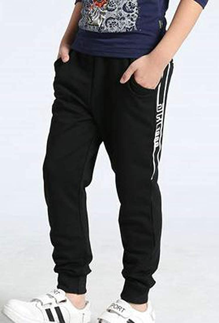 Lutratocro Big Boys Stylish Jogger Elastic Waist Basic Sweatpants Cotton Pants