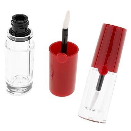 B Baosity 2 Piezas 5ml Botella de Lápiz Labial Recipientes Cosméticos Estuche de Bálsamo de Labios