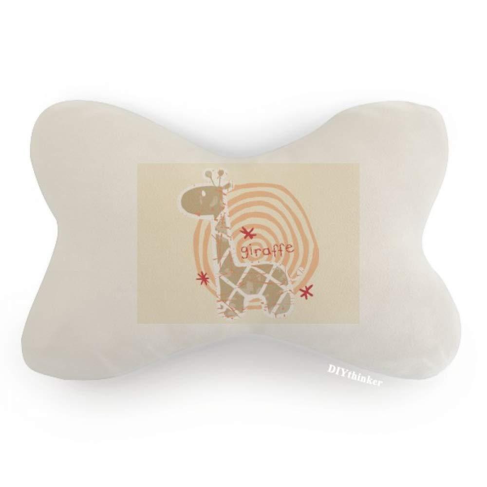 DIYthinker Giraffe Cartoon Ring Animal Car Neck Pillow Headrest Support Cushion Pad