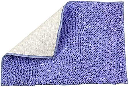 Viola Chiaro soffice Tappeto Doccia in Microfibra tappetini da Bagno Facili da Pulire H.VERSAILTEX Tappetino da Bagno in ciniglia Antiscivolo 50 x 80 cm