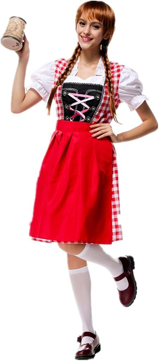 Disfraz de Traje bavara de Mujer Vestido de Oktoberfest Vestido ...