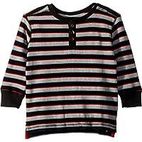 Hatley Kids Mens Black Striped Waffle Henley (Toddler/Little Kids/Big Kids)
