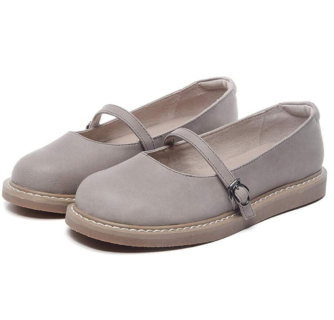 DANDANJIE Womens Mocassini Autunno Vintage Letterary Sweet Flat Heel Scarpe Mary Jane  Un