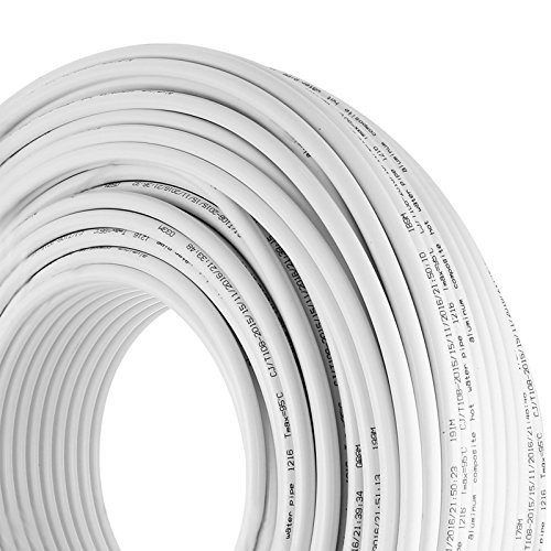 Mophorn PEX AL PEX Tubing 1/2 Inch Roll of 656 Ft 200 M Radiant Heat Tubing Nontoxic for Heating and Plumbing Hot and Cold Water Piping Radiant Floor PEX Al Tubing White by Mophorn (Image #8)