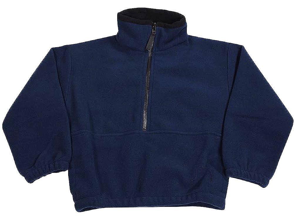Kaynee Little Boys Polar Fleece 1//2 Zip Pullover