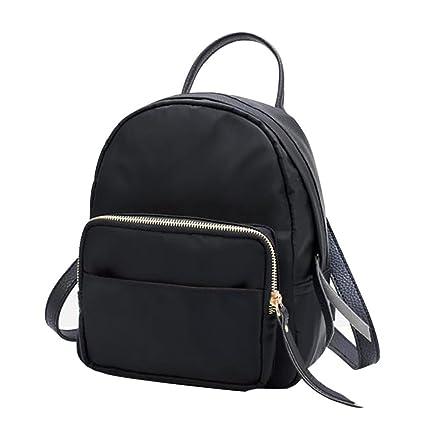Sunshinehomely Women Girls Nylon Waterproof Mini Backpack Fashion School  Travel Bag Women Small Zipper Bag ( b016b9fbe4
