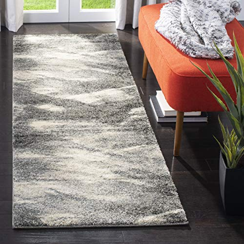 Safavieh Retro Collection RET2891-8012 Modern Abstract Grey and Ivory Runner (2'3