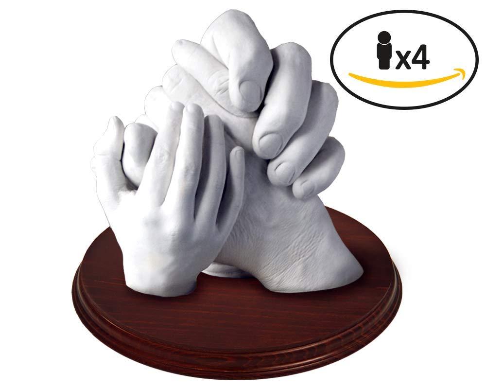 Les Empreintes de votre Famille en 3D − Moldeartebaby Famille avec Support