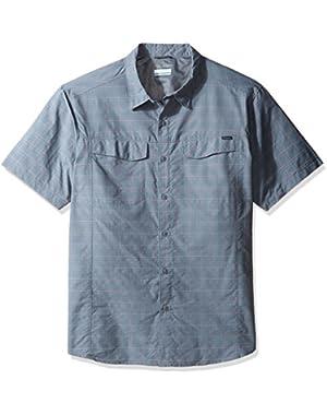 Men's Big-Tall Silver Ridge Multi Plaid Short Sleeve Shirt, Grey Ash Dobby Plaid, 2X