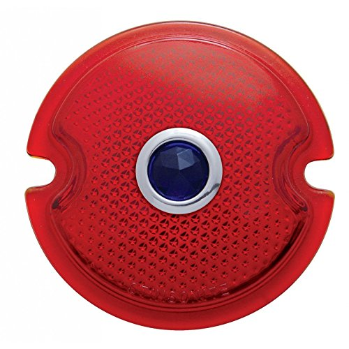 - United Pacific A5003 1933-36 Tail Light Lens - Red W/ Blue Dot, 1 Pack