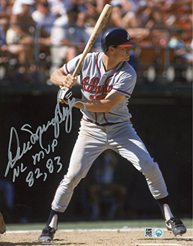 - Dale Murphy Atlanta Braves Autographed 8'' x 10'' Gray Jersey Photograph with