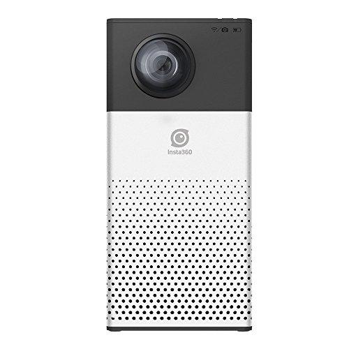 Morjava Insta360 360 degree Sony 8MP CMOS Video Image Dual Lens 360 VR Camera, Insta 360 4K Silver-Black