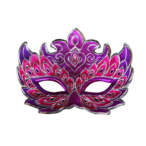 Mardi Gras Party Masquerade Mask,Halloween Makeup Dance mask Horror Devil Sly mask Party A6 Prom Masks]()