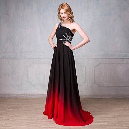 and Drasawee Kleid 3 Empire Damen Red Rosa Black vXRZq