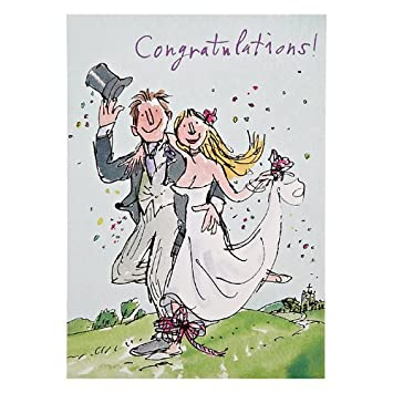 Quentin Blake Wedding Congratulations Greeting Card Popular Range Cards