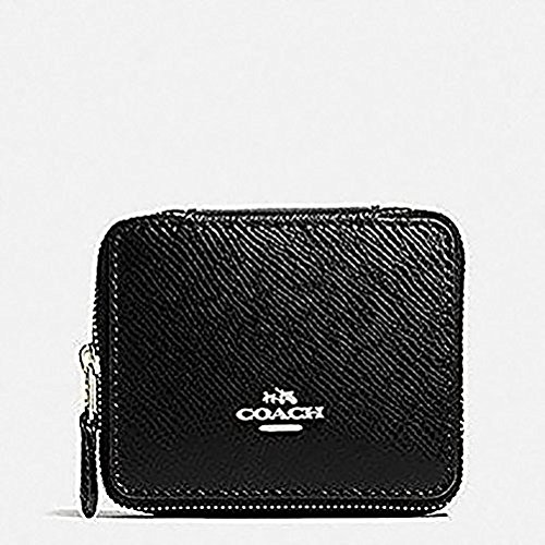 Coach JEWELRY BOX IN CROSSGRAIN LEATHER Travel F66502 Black ()