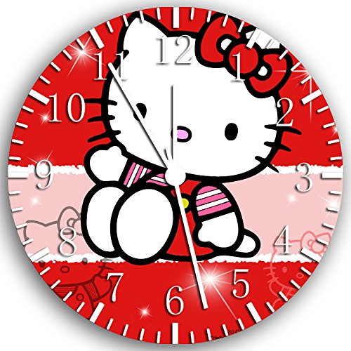 Hello Kitty Frameless Borderless Wall Clock