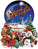 SunsOut Christmas Snow Globe Shaped Puzzle 1000 Pieces by SunsOut