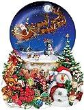 SunsOut Christmas Snow Globe Shaped Puzzle 1000 Pieces by SunsOut