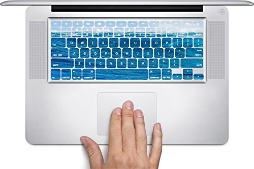 Trendy Accessories Blue Sea Wave Design Pattern Print Macbook Keyboard Decals (Fits 13, 15 inch Air/Pro/Retina) by Trendy Accessories