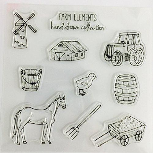 Mimgo Farm Elements Transparent Silicone Clear Stamp For Scrapbooking DIY Album Decor